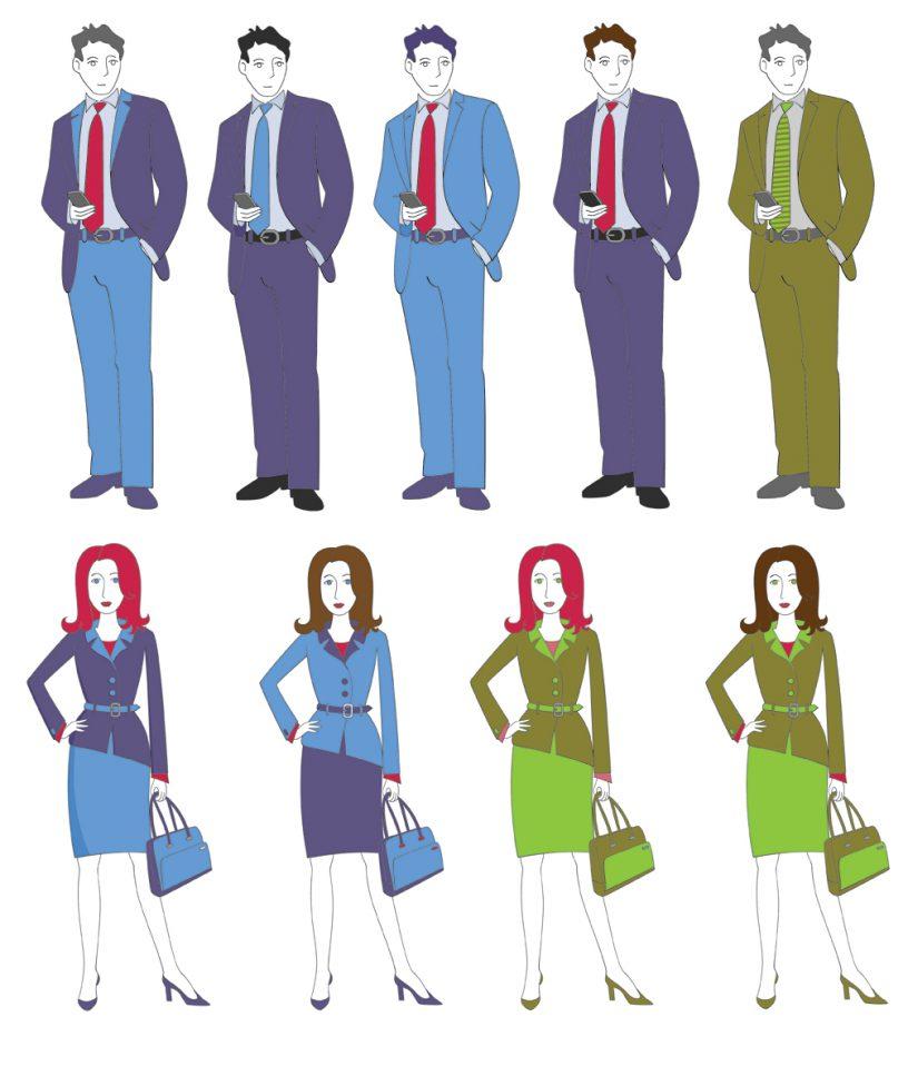 Farben im Business. Bild: ekispix